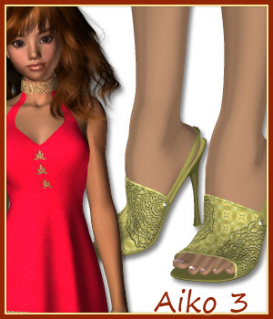 Aiko High Heels and 50 Styles 3D Figure Assets karanta