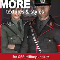 MORE Textures & Styles for GER Military Uniform 3D Models 3D Figure Assets motif