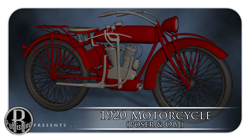 1920s Motorcycle (Poser & OBJ)