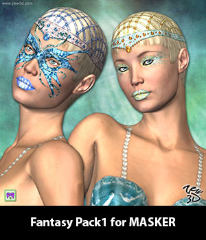 Fantasy Pack1 for MASKER 3D Figure Assets zew3d