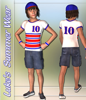Luke Summer Wear 3D Figure Assets karanta