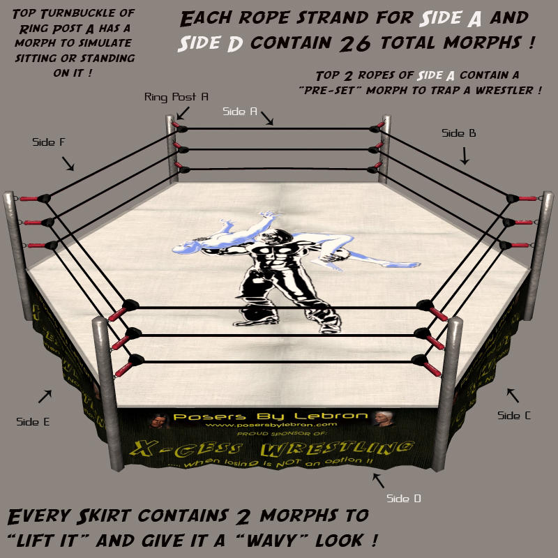 6 Sided Morphing Wrestling Ring - Poser 6 or 7 only