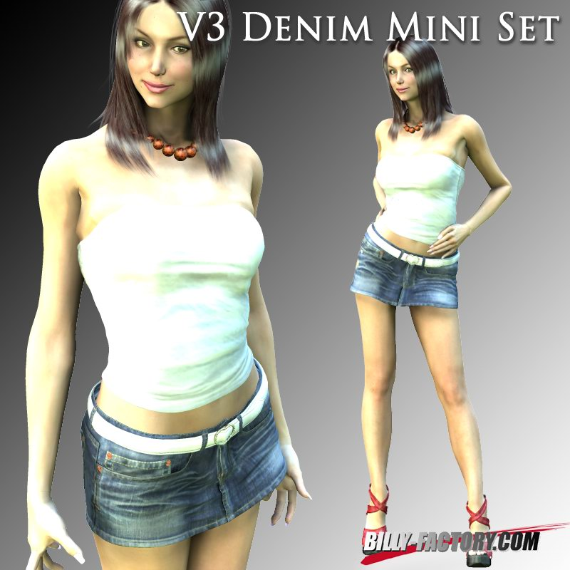 V3 Denim Mini Set