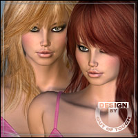 °Sapphire Fox Shades° Textures for Sapphire Fox Hair by Quarker 3D Figure Essentials outoftouch