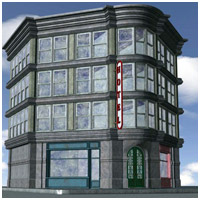 Old Style Building (Poser, Vue  & OBJ) Props/Scenes/Architecture Themed RPublishing