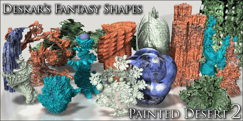 Fantasy Shapes - Painted Desert 02