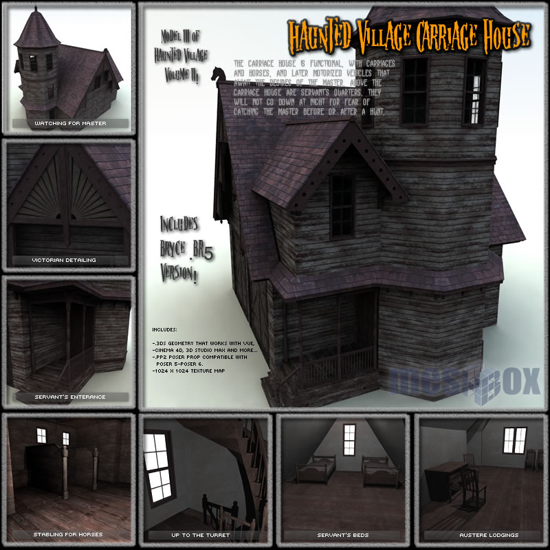 Haunted Village Carriage House (HTD1V203-3DS)