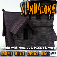 Haunted Village Carriage House (HTD1V203-3DS) Props/Scenes/Architecture Themed chikako