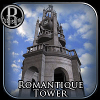 Romantique Tower (Poser, Vue & OBJ) 3D Models RPublishing