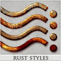 DW - Rust Styles for Photoshop 3D Models 2D DreamWarrior