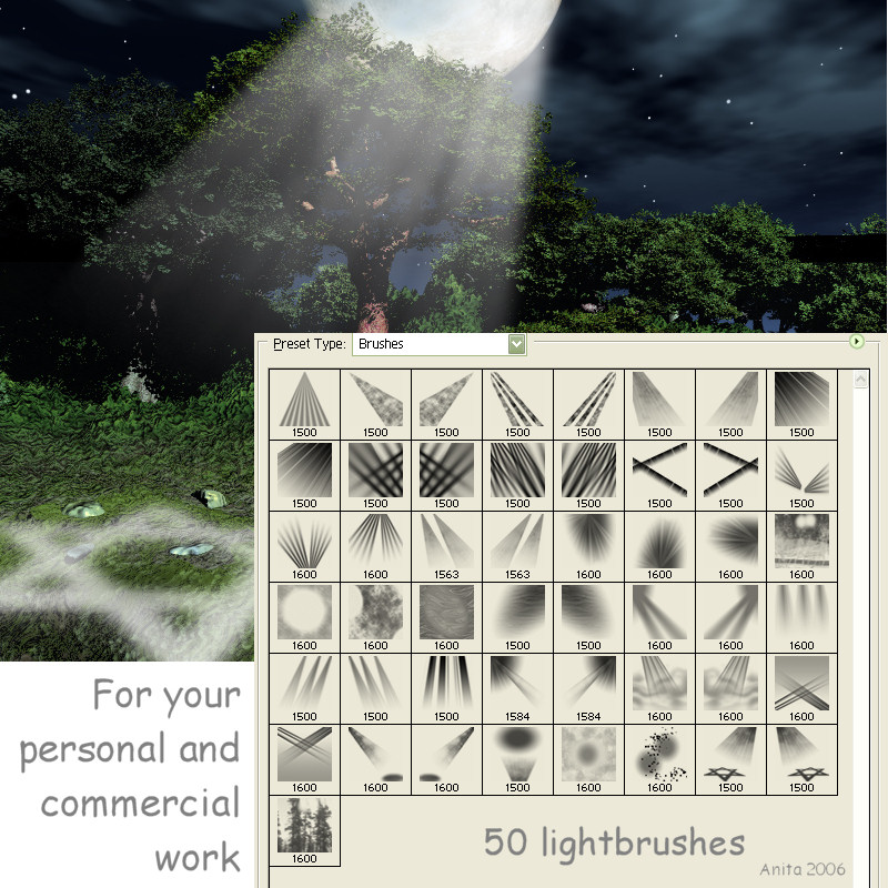 50 Lightbrushes