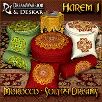 Harem 1 - Morocco - Sultry Dreams 3D Models DreamWarrior