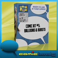Comic Kit #3 Balloons & Bursts 2D And/Or Merchant Resources Themed RPublishing