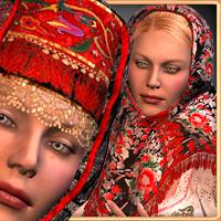 RT-V3 Russian Ladies BUNDLE 3D Figure Assets -renapd-