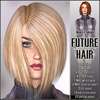 Future Hair 3D Figure Assets 3Dream