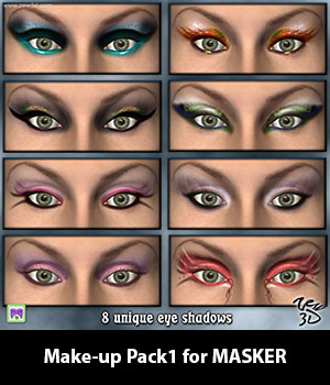 Make-up Pack1 for MASKER 3D Figure Assets zew3d