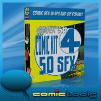 Comic Kit #4 50 SFX Themed Software 2D And/Or Merchant Resources RPublishing