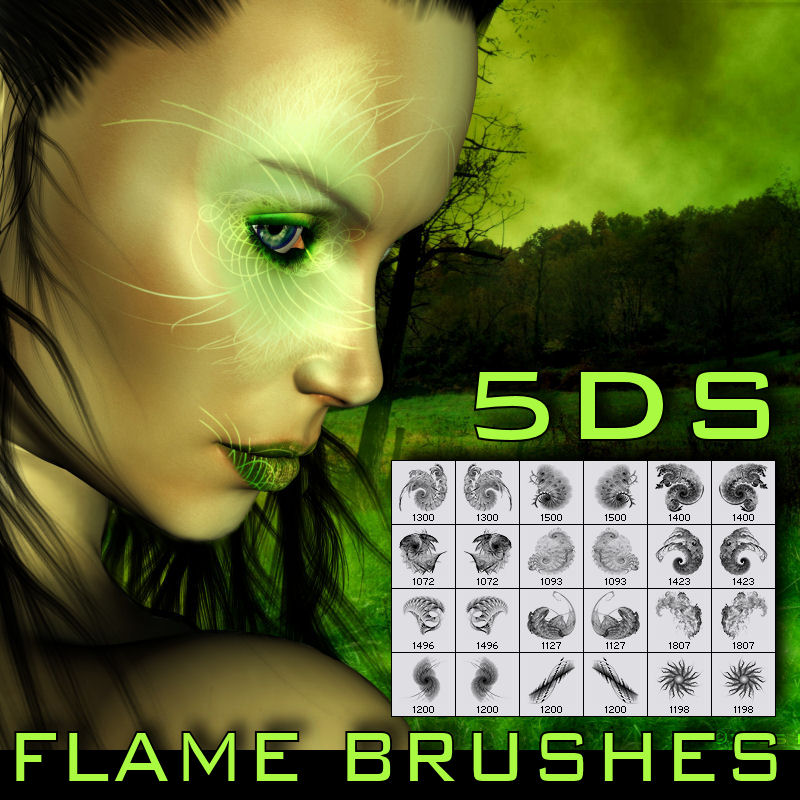 5DS Flame Brushes