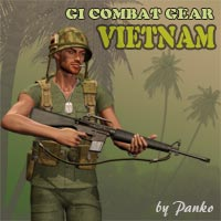GI Combat Gear-M3_Vietnam 3D Figure Essentials 3D Models panko