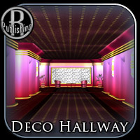 Deco Hallway (Poser & OBJ) 3D Models RPublishing