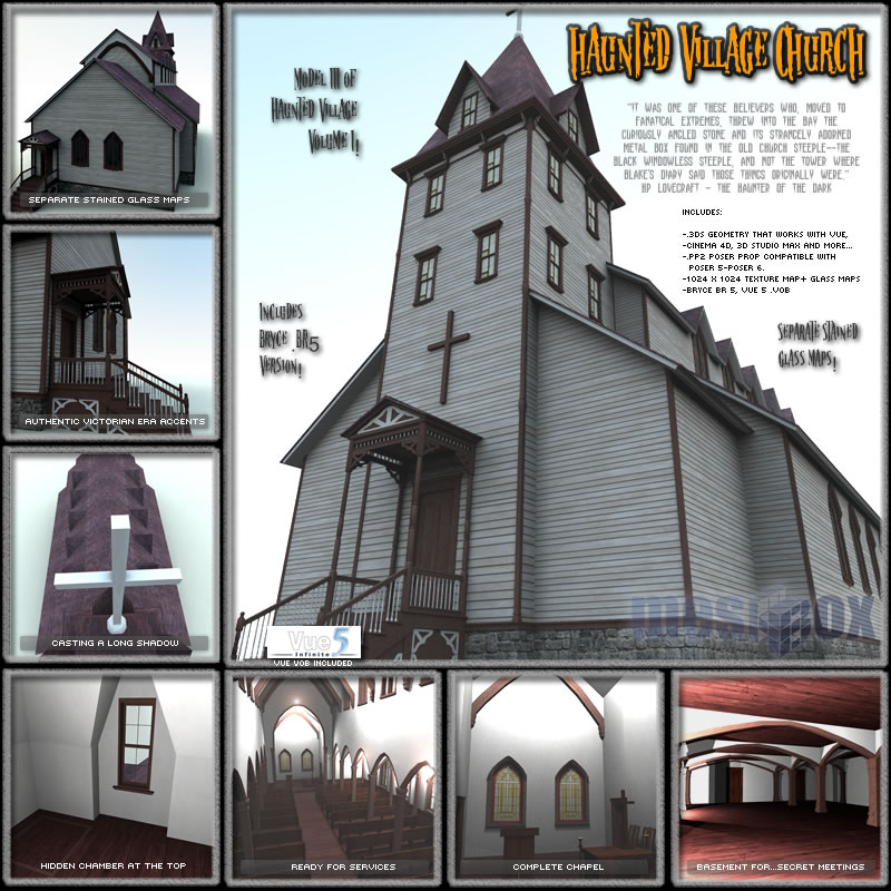 Haunted Village Church  (HTD1V103-3DS)