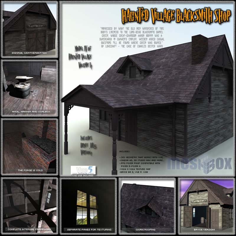 Haunted Village Blacksmith Shop (HTD1V104-3DS)