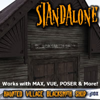 Haunted Village Blacksmith Shop (HTD1V104-3DS) 3D Models chikako