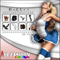Hi-Fashion (Life Style) - Breezy 3D Models 3D Figure Assets Pretty3D