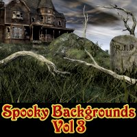 Spooky Backgrounds Vol 3 Themed 2D And/Or Merchant Resources Laksmi