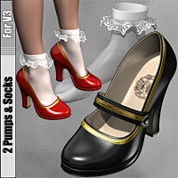 2 Pumps & Socks For V3 3D Figure Essentials idler168
