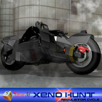 The Xeno Hunter Sci Fi Regulator motorBike  Simon-3D