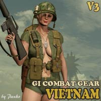 GI Combat Gear-V3_Vietnam 3D Models 3D Figure Essentials panko