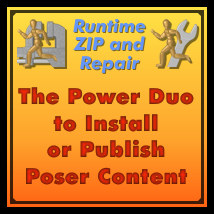 Runtime ZIP & Repair 3D Software : Poser : Daz Studio : iClone Dimension3D
