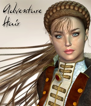 Adventure Hair 3D Figure Assets 3Dream