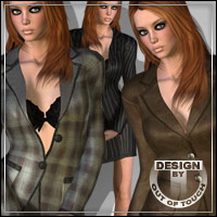 °Office Fashion° Textures for T-Suit 3D Figure Essentials outoftouch
