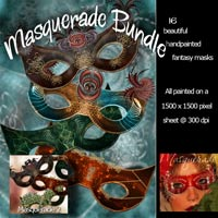 ~ Masquerade Bundle ~ Themed 2D And/Or Merchant Resources antje