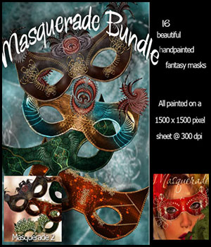~ Masquerade Bundle ~ 3D Models 2D Graphics antje