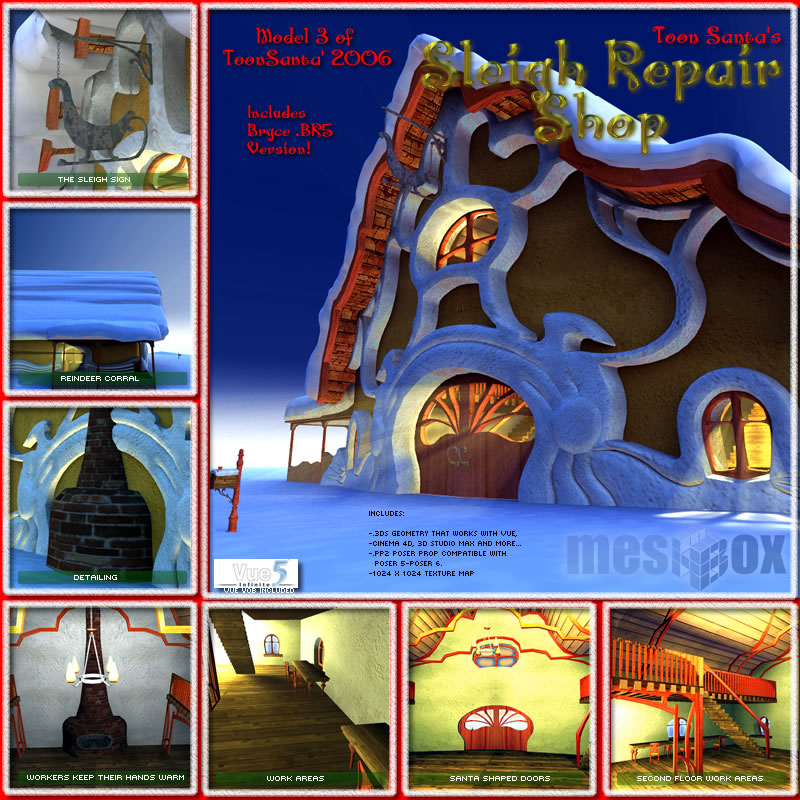Toon Santa's Sleigh Repair Shop (TSV00603 )