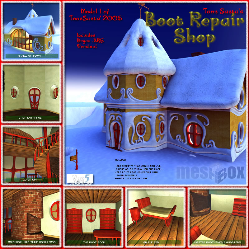 Toon Santa's Boot Repair Shop (TSV00601 )
