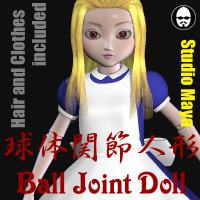 Ball Joint Doll 3D Figure Assets MayaX
