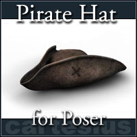 Pirate Hat 3D Models 3D Figure Essentials cartesius