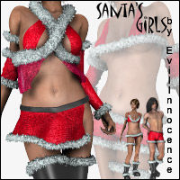 Santa's Girls 3D Models 3D Figure Essentials EvilInnocence