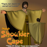 Pappy's Shoulder Cape 3D Figure Essentials 3D Models pappy411