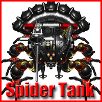 Spider Tank Kit 3D Models Bugzlife