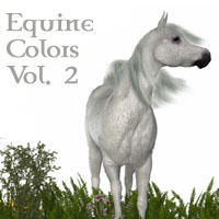 Equine Colors Vol. 2 for Daz Mil Horse 3D Figure Essentials 3D Models solarisonline