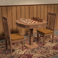 Chess Set for Poser 3D Models Richabri