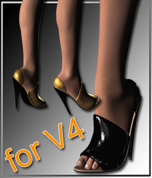 Extreme High Heels and 30 Styles for Vicky 4 3D Figure Assets karanta