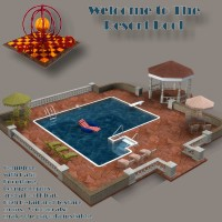 Resort Pool Props/Scenes/Architecture SAMS3D