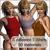 V4 - T-Shirt Collection  3D Figure Essentials 3D Models karanta