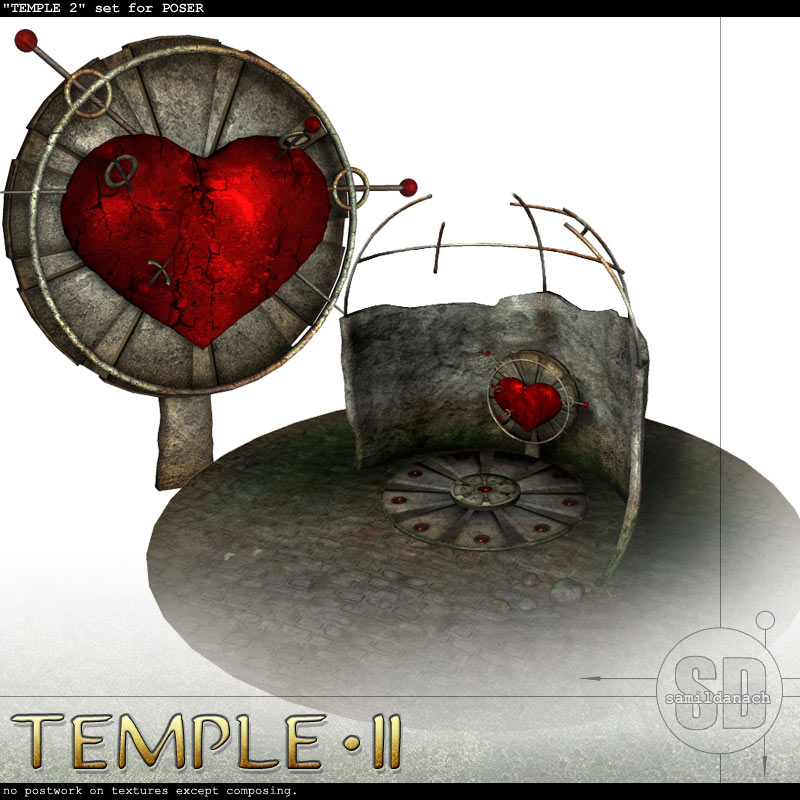 Temple 2 - set for POSER